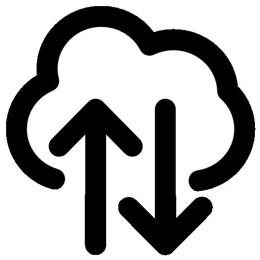 Ícone representando migração para nuvem.