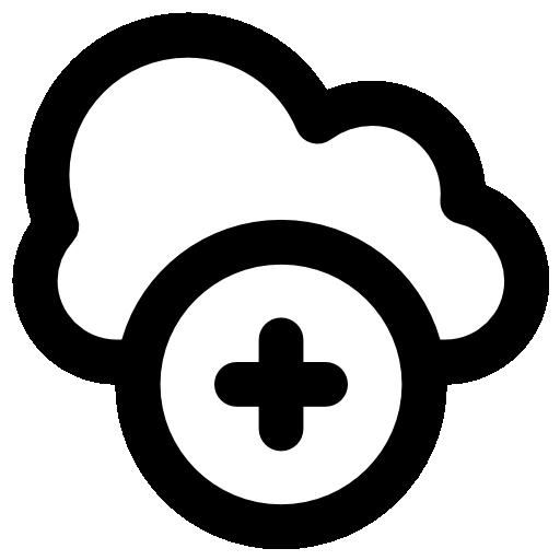 Ícone representando tipos de nuvem.