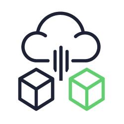 Ícone representando solução de arquivamento na nuvem.