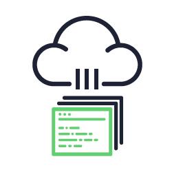 Ícone representando backup na nuvem.