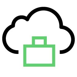 Ícone representando consultoria em cloud.