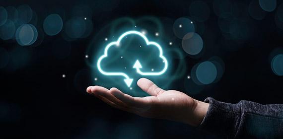 Imagem ilustrativa representando computação em nuvem.