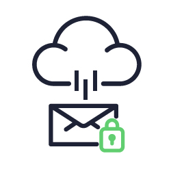 Ícone representando email gateway na nuvem.