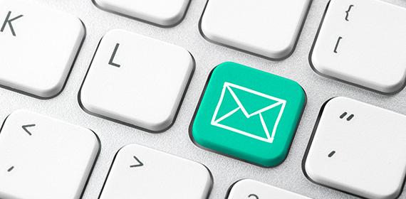 Arte ilustrativa representando o e-mail.