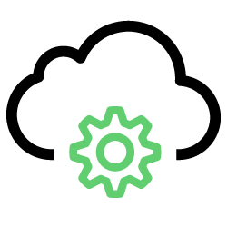 Ícone representando migração para cloud.
