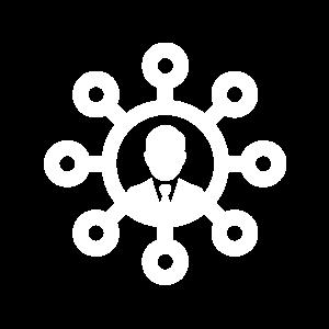 Ícone network na nuvem.