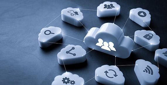 Imagem ilustrativa representando centralização de dados na nuvem.