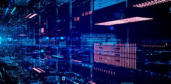 Imagem abstrata representando recursos de cloud computing.