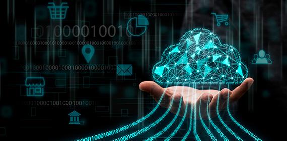 Arte ilustrativa representando recursos exclusivos na computação em nuvem.