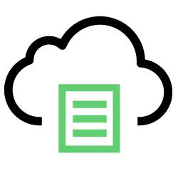 Ícone representando serviços gerenciados na nuvem.