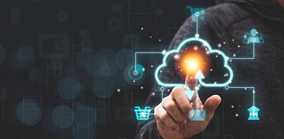 Imagem ilustrativa representando tecnologia em nuvem.