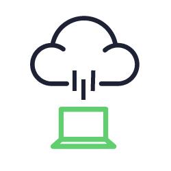 Ícone representando VDI (Virtualização de Desktop).